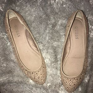 Gold Rose Studded Guess Flats